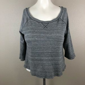We The Free Waffle Knit Crop Casual Shirt
